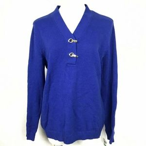 Karen Scott PS Blue Pull Over Sweater 6AN70